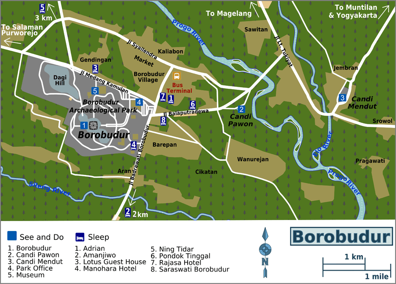 Borobudur-map