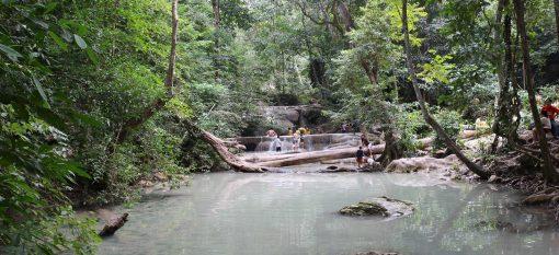 Kanchanaburi erawan waterfalls