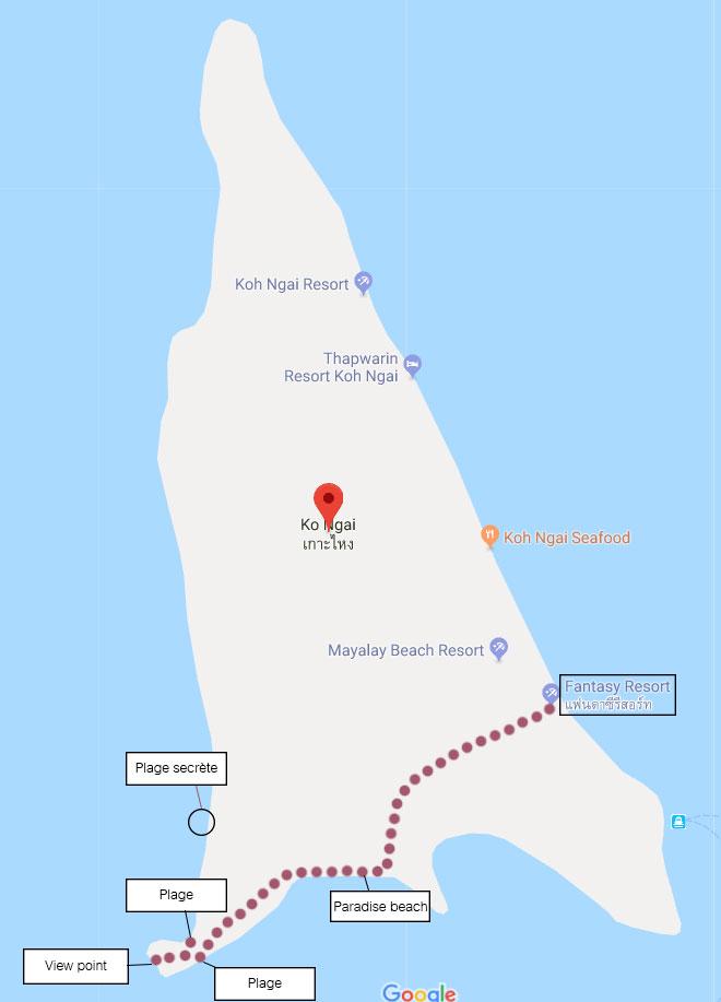 Carte Randonnee Thailande.Koh Ngai Un Paradis En Thailande Virtual Trip