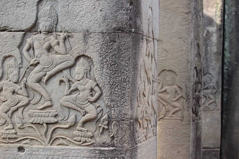 Bayon bas reliefs