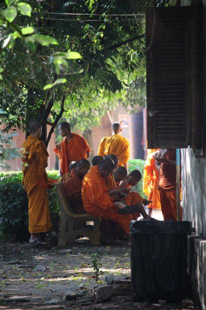 Monks in Siem Reap temple