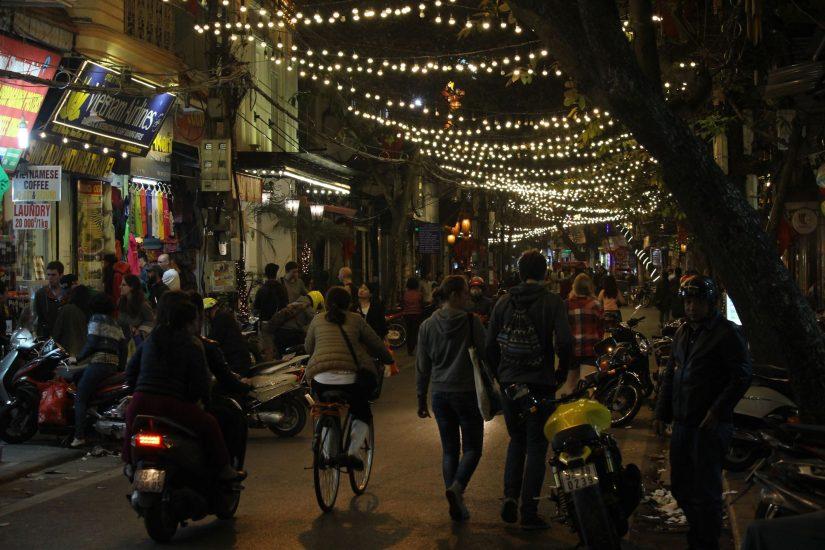 Hanoi streets by night