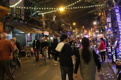Hanoi streets by night