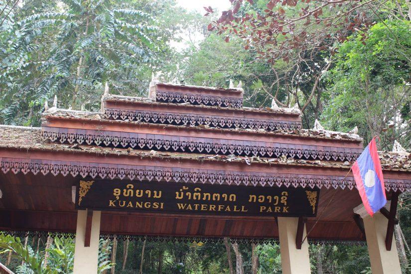 Kuang Si Falls entrance