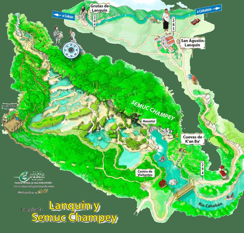 semuc champey map