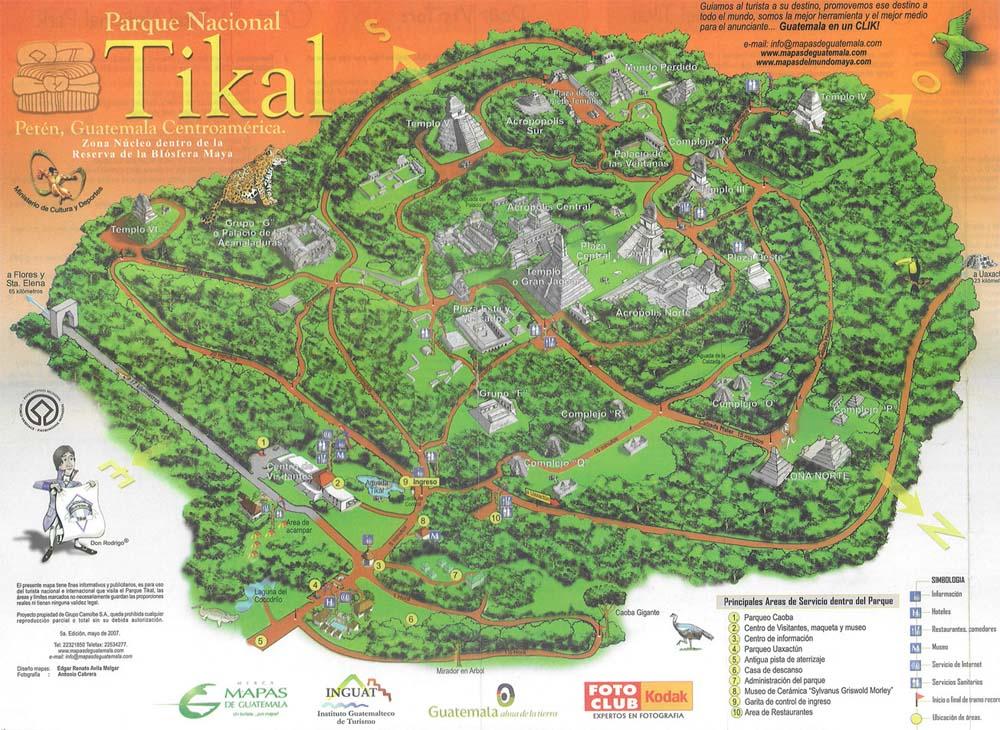 Tikal Map Guatemala