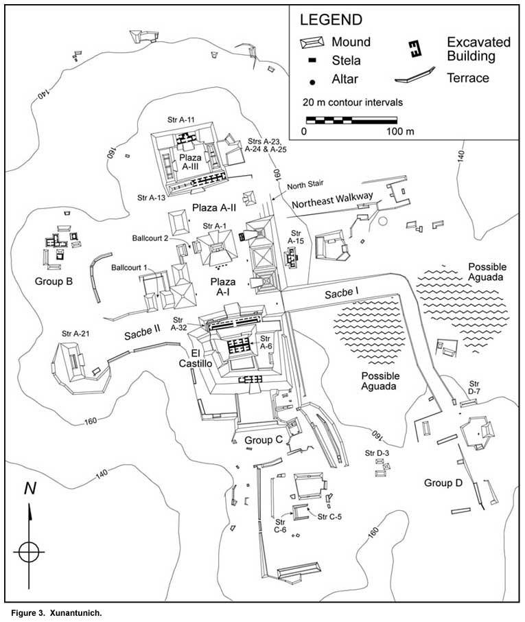 xunantunich map