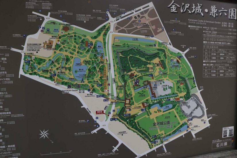 Kanazawa castle map