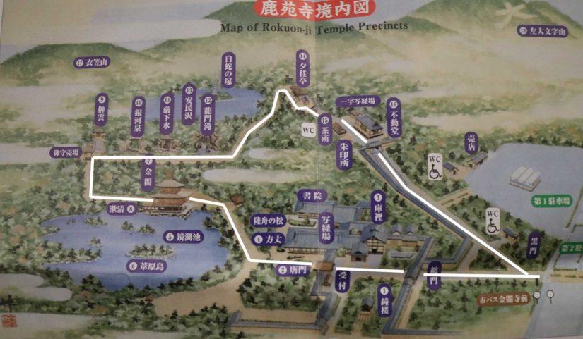 kinkakuji-map