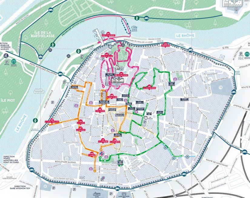 Circuit pédestre à Avignon